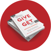 a stack of give and get books